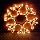 Snowflake Rope Light Sculptures