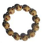 Handpainted Animal Print Cheetah Adult Stretch Bracelet