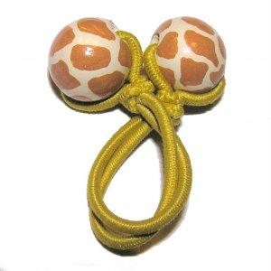 Handpainted Giraffe Animal Print Pony Tail Holder