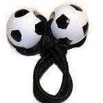 Handpainted Soccer Ball Pony Tail Holder