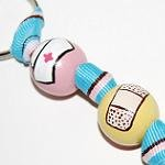 Nurse Appreciation Handpainted Keychain on Pink & Blue Grosgrain Ribbon