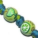 Handpainted Margarita Fiesta Green & Turquoise Keychain