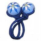 Blue Iris Handpainted Pony Tail Holder