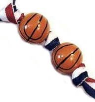 Handpainted Sporty Basketball Keychain