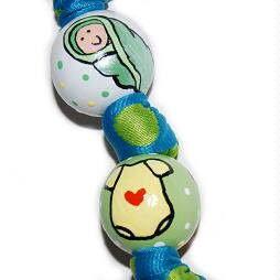 Baby Bundle of Joy Handpainted Keychain