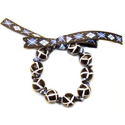 Handpainted Animal Print Giraffe Bow Bracelet