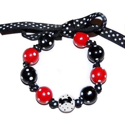 Mickey Mouse House of Mouse Handpainted Bow Bracelet