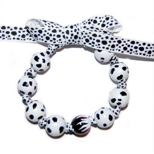 101 Dalamtions Handpainted Bow Bracelet