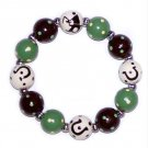 Helping Horse Handpainted Stretch Bracelet - Moss Green