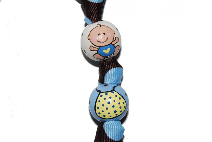 Bouncy Baby Boy Handpainted Keychain