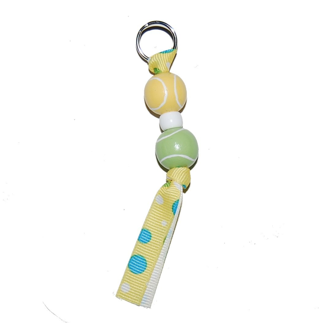 Handpainted Tennis Sports Zipper Pull