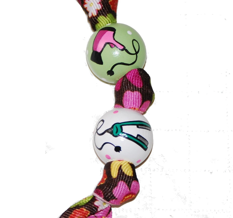 Hairdresser Salon Stylist Handpainted Keychain