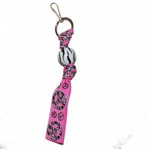 Peace Zebra Keychain Clip