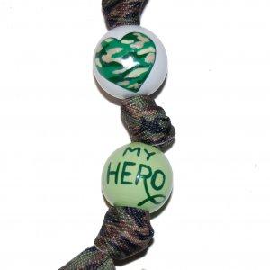 My Military Hero Handpainted Grosgrain Ribbon Keychain