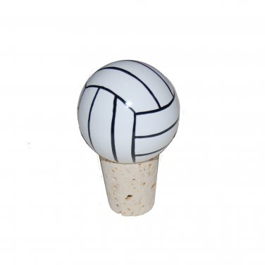 Handpainted Volleyball Wine Stopper