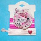 Cheer, Cheerleader Handmade Flower Foe Elastic Headband & Matching Hair Tie