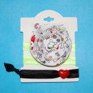 Dog Doodle Puppy Handmade Flower Foe Elastic Headband & Matching Hair Tie