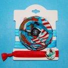 Pirate Ship Handmade Flower Foe Headband & Matching Hair Tie