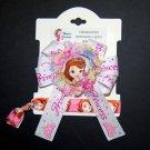 Sophia Inspired Shabby Flower Grosgrain Ribbon Hair Bow Clip with Foe Hair tie