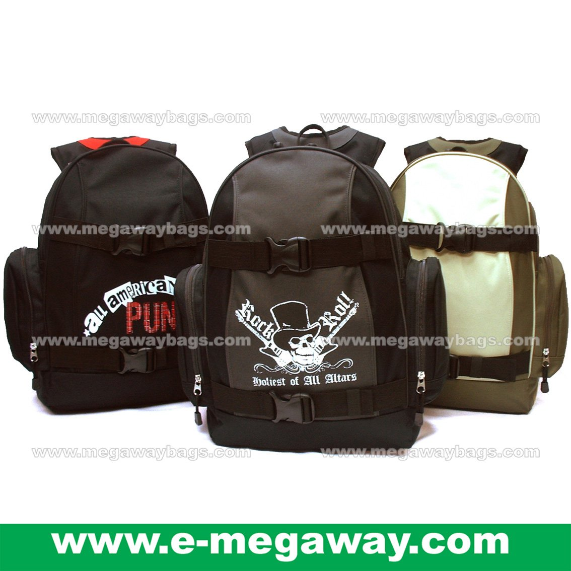Backpack Nylon Backpack Rucksack Day Pack Hiking Camping Sports Outdoor MegawayBags #CC- 0981(B)