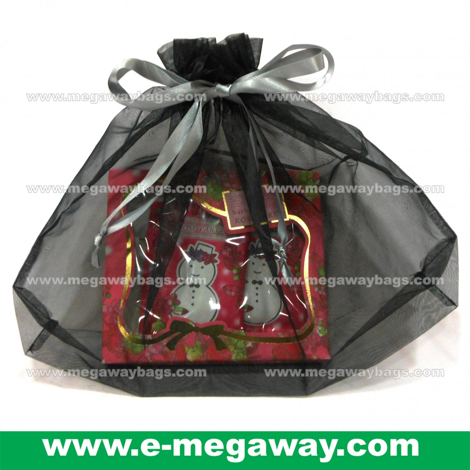 Mesh Organza Draw Sting Pouch Sac Bags Clothes Package Tidy Gifts MegawayBags #CC-0927