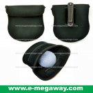 Golf Ball Cleaning Pouch Bag Metal Clip Neoprene Black Sports Gear MegawayBags #CC- 0848