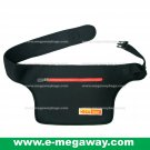 Megaway Black Travel Waist Bag (Adjustable Belt) Purse Pouch Wallet Neoprene MegawayBags #CC-0877