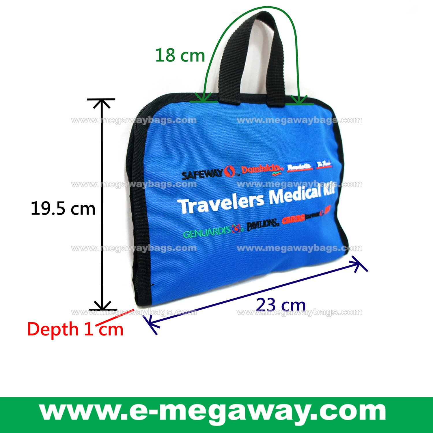 Red Cross First Aid Health Medical Carry Fly Kit Bag Travel Sac MegawayBags #CC-0846