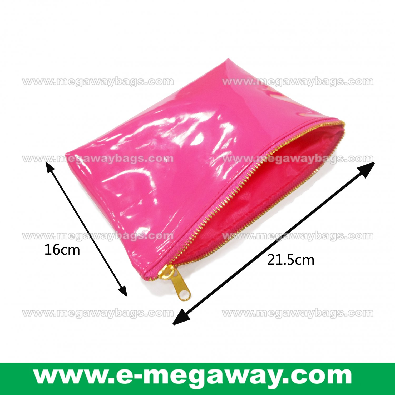 Pink Fans Travel Amenity Kits Make Up Zip Pouch Cosmetics Bags Bath MegawayBags #CC-0932B