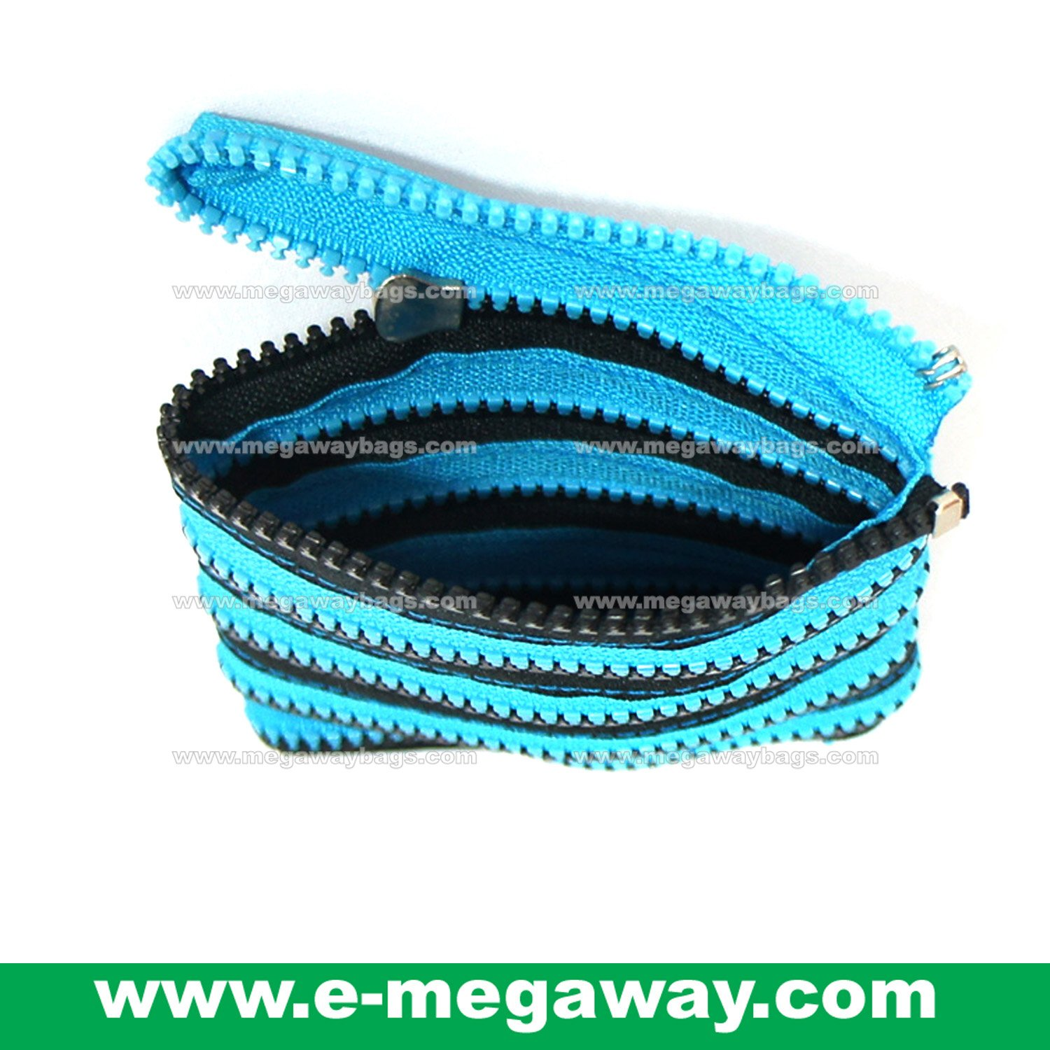 Continous Zippers Wallet Purse Amenity Bags Kits Sac Designer Crafts MegawayBags #CC-0763