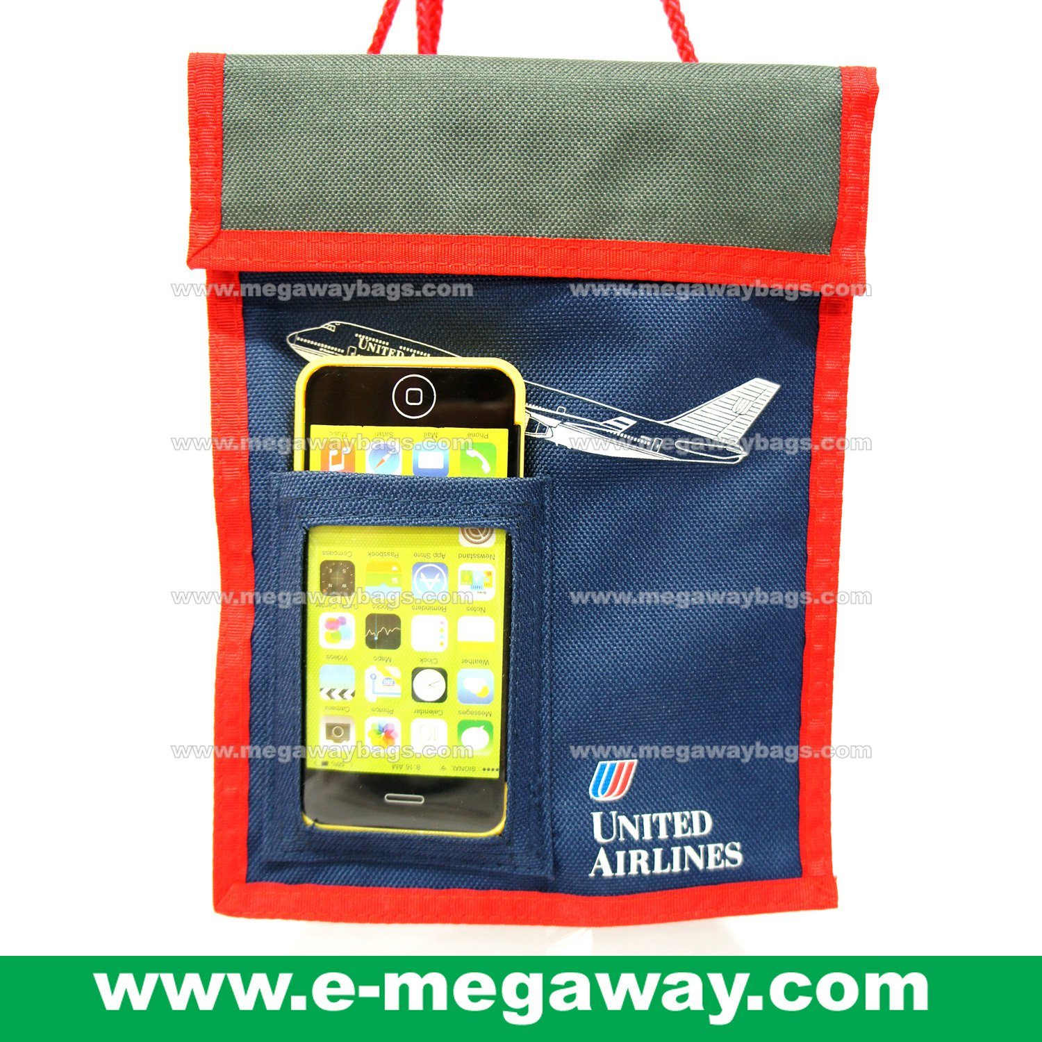 United Airline Travel Wallet Bag Money Tickets Credit Card Organizer MegawayBags #CC-0643
