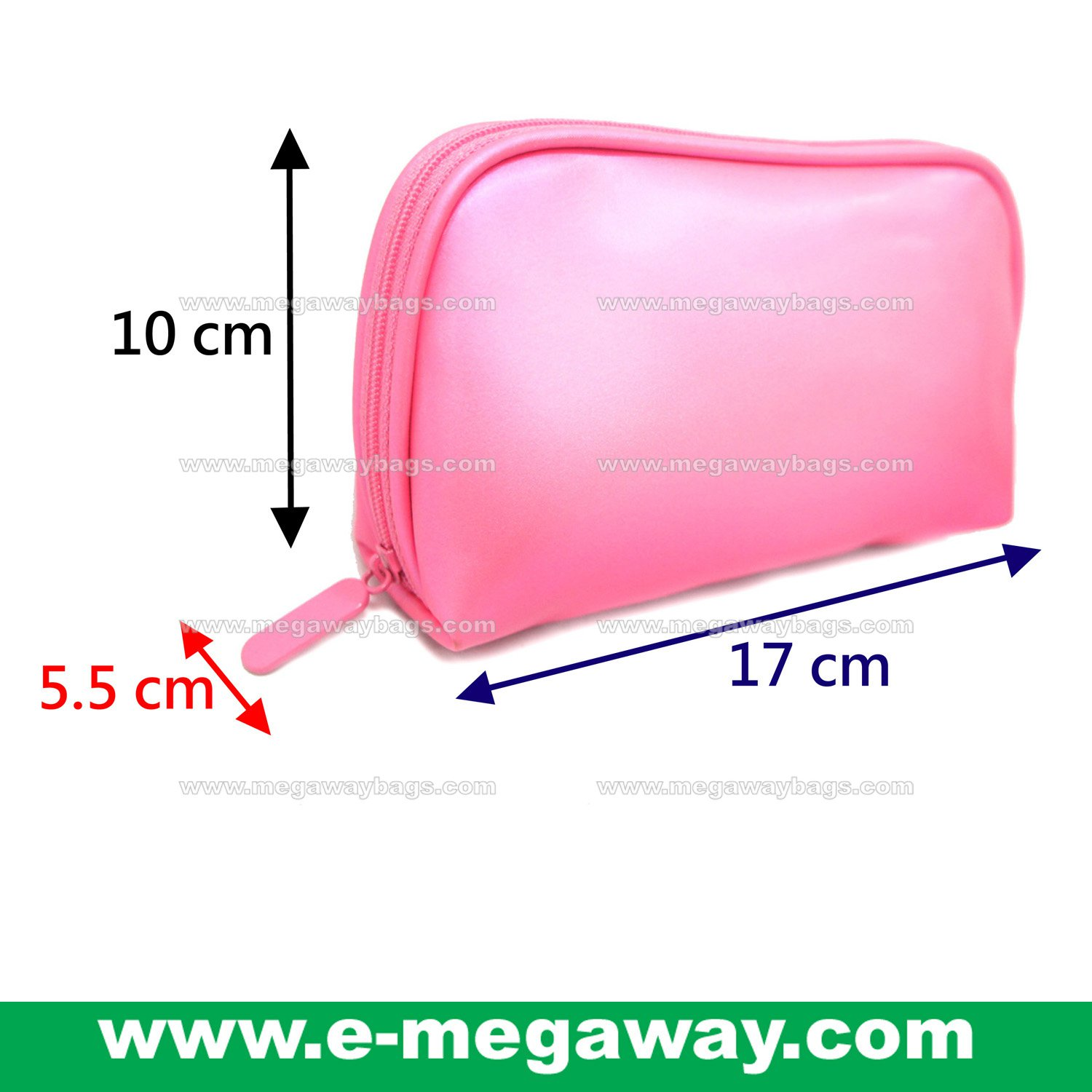 Beauty Amenity Cosmetics Bags Case Sac Pouch Wallets Stripe Printed MegawayBags #CC-0909