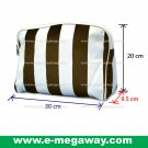 Beauty Amenity Cosmetics Bags Case Sac Pouch Wallets Stripe Printed MegawayBags #CC-0842