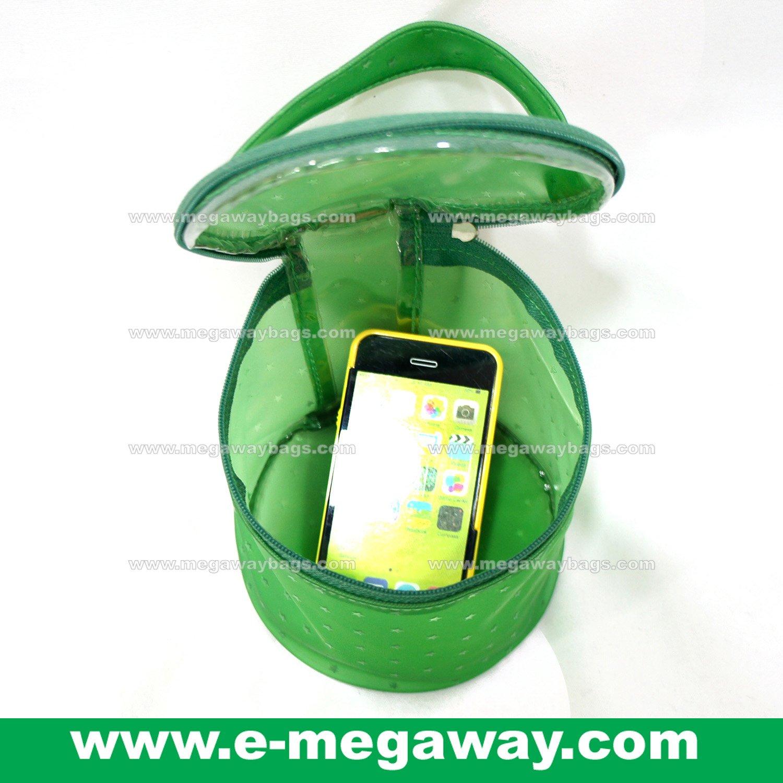Semi Transparent Bath Beauty Packaging Amenity Circle Pouch Sac Bag MegawayBags #CC-0666