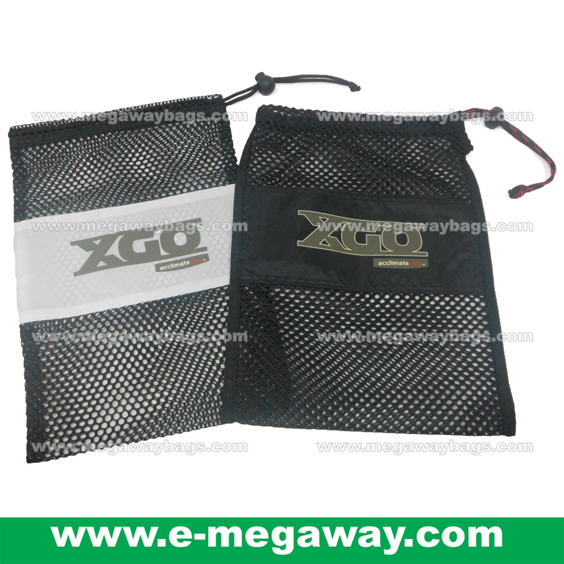 XGO Mesh Bags Draw Sting Pouch Jackets Garment travel Packaging Pack MegawayBags #CC-0939B