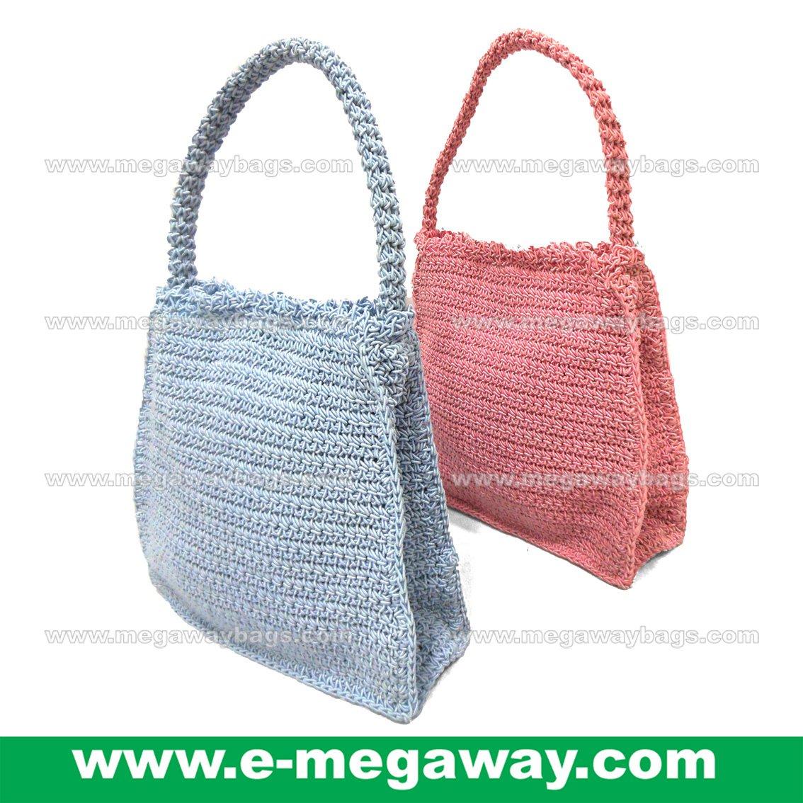 Mini Crochet Bags Straw Knitted Crafts Tote Handbags Taschen Purses MegawayBags #CC-1044B