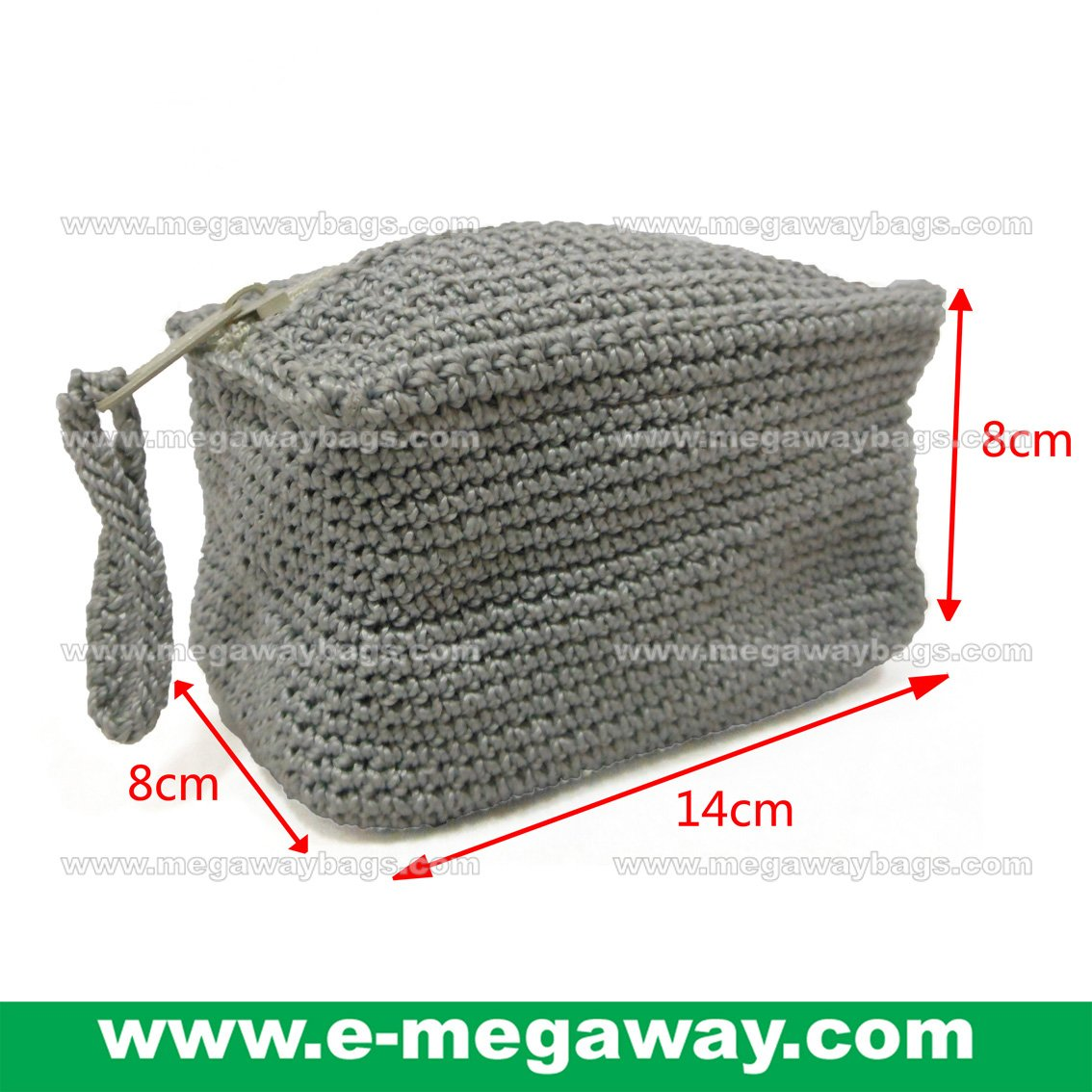 Small Crochet Bags Wallets Zip Pouch Knitted Craft Amenity Accessory MegawayBags #CC-1040