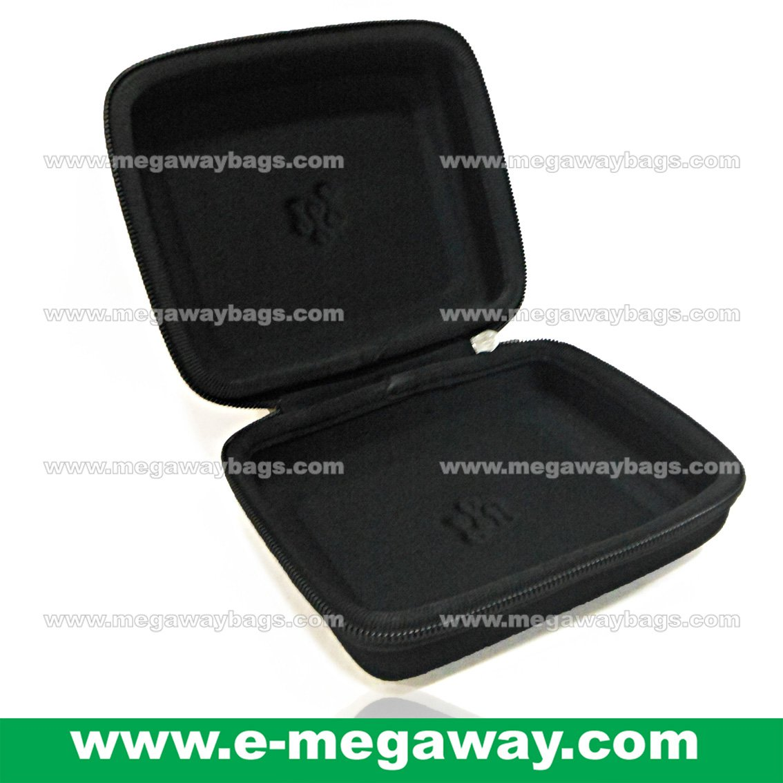 EVA Emboss Foam Clam Shell Bag Case Boxes Device Zip-Up Hard Cover MegawayBags #CC-1061