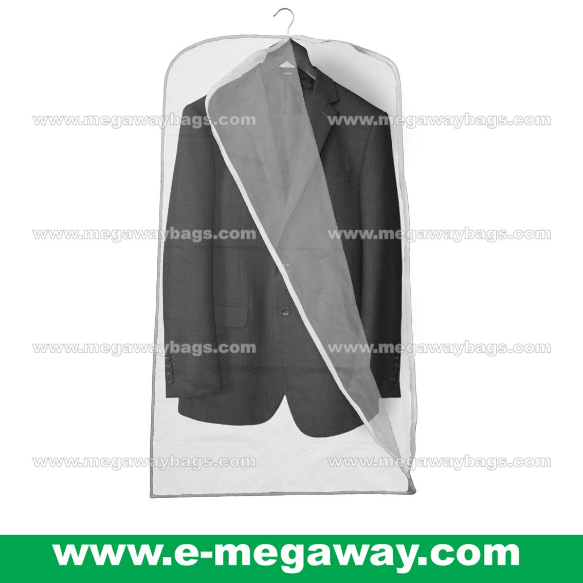 Wedding Suits Dress Garment Vinyl Zipper Bag Semi-Transparent Travel MegawayBags #CC-0944