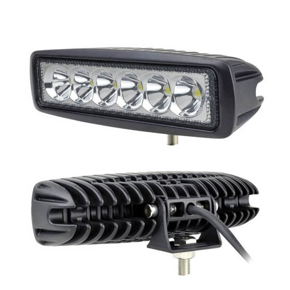 6Inch 18W Led Light Bar Spot Beam Work Light 4WD SUV Off-road Driving Lamp