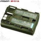 Canon optura Xi 10 20 50MC 100MC BP-511A Pisen Camera Battery Free Shipping