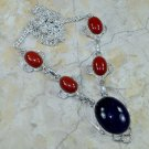Natural red coral ametyst gemstone silver pendant necklace ! Gift Jewelry & Love