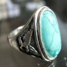 Fashion Thailand silver ring green Turquoise stone size 11.5 Gift Jewelry & Love