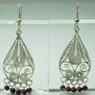 Special fashion sterling 925 earrings - set ruby stone ! Gift Jewelry & Love