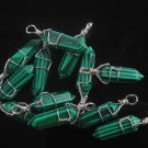 Fashion silver 925 necklace & pendant set malachite gemstone ! Gift & Jewelry