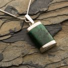 Fashion sterling silver chain & pendant set natural Eilat stone ! Gift & Jewelry