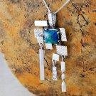 Unique silver necklace & pendant set Eilat king solomon stone ! quality jewelry