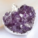 Natural amethyst gemstone pendant & silver 925 necklace ! Gift Jewelry & Love