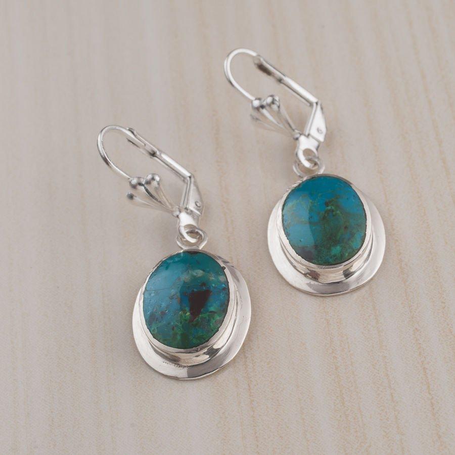 Vintage silver sterling 925 earrings set Eilat stone Israel ! Jewelry & Gifts