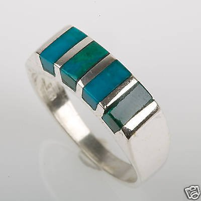 Best sterling 925 ring set with Eilat stone Israel ! Gift Jewelry & Love